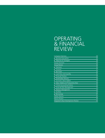 OPERATING & FINANCIAL REVIEW - Sembcorp