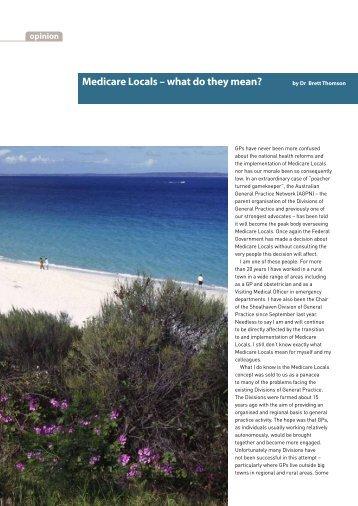 Medicare locals - Australian Medical Association NSW