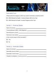 Nomination Form Section 1 – Nominee Details Section 2 ...
