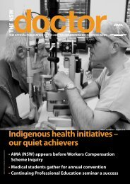 indigenous health initiatives - Australian Medical Association NSW