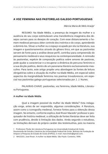 A Voz femininA nAs pAstorelAs gAlego-portuguesAs - TEL