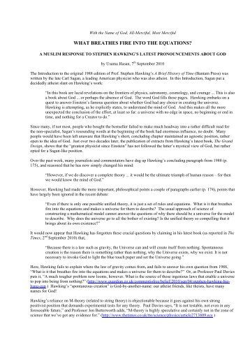 a PDF version of this article: On God and Hawking 7-Sep ... - UNITY