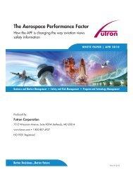 The Aerospace Performance Factor - Futron Corporation