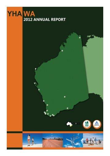 yha wa 2012 annual report - YHA Australia