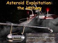 Asteroids Exploitation: the History