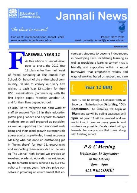 (September 2012) Week 38 [pdf, 7 MB] - The Jannali High School