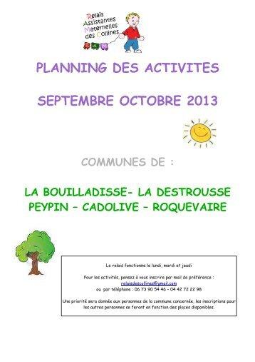 les mois de septembre et octobre 2013 - Roquevaire