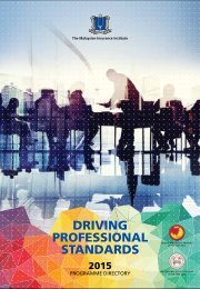 DRIVING PROFESSIONAL STANDARDS