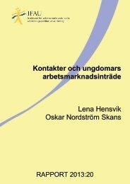 r-2013-20-Kontakter-och-ungdomars-arbetsmarknadsintrade