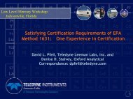 Satisfying Certification Requirements of EPA Method 1631