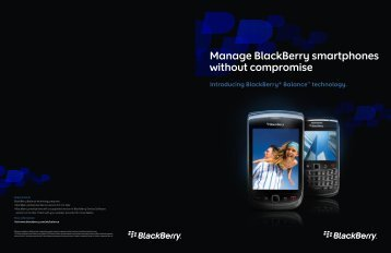 Manage BlackBerry smartphones without compromise
