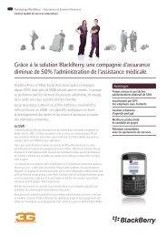 Grâce à la solution BlackBerry, une compagnie d'assurance diminue ...