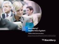 BlackBerry® Mobile Voice System