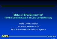 Status of Method 1631 for Low Level Hg Determination - Teledyne ...