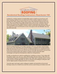 Residential Roofing Contractors Manchester NH