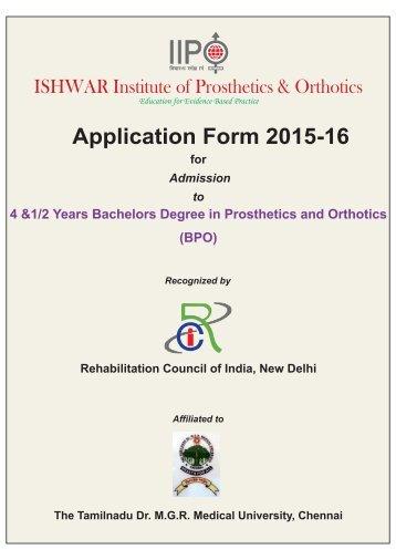 2015-16 IIPOC Admission Form -BPO(6)