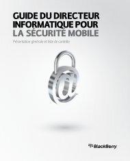 Guide du directeur informatique pour la sécurité ... - BlackBerry site