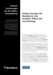 Heraus- forderungen bei der Daten- verarbeitung. Mobile Lösungen ...