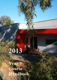 Year 9 Program 2013 - Diamond Valley College