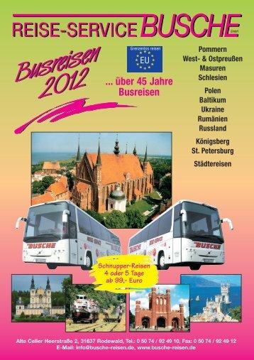 Ostpreußen - Reiseservice Busche GmbH
