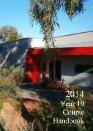 2014 Year 10 Course Handbook - Diamond Valley College