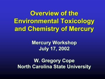 Overview of Toxicology of Mercury - Teledyne Leeman Labs