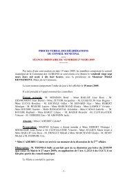 PV DCM du 27 mars 2009 - Les Avirons