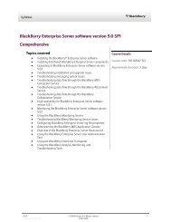 BlackBerry Enterprise Server software version 5.0 SP1