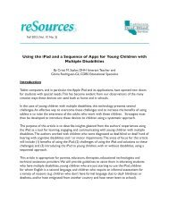 Using the iPad and a Sequence of Apps for Young ... - Cadbs.org