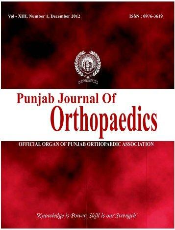 Title final.cdr - Punjab Orthopaedic Association