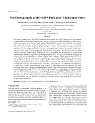 Sociodemographic profile of low back pain - Shaharnpur Spine