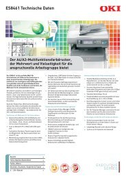 ES8461 Technische Daten - OKI Graphic Arts