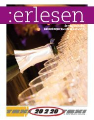 Sonderausgabe Babenberger Business Ball 2015