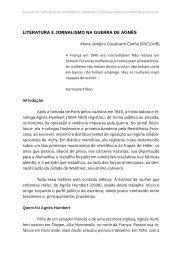 Literatura e JornaLismo na Guerra de aGnès - TEL