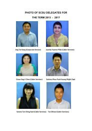 PHOTO OF SCSU DELEGATES FOR THE TERM 2013 - 2017 - NTUC