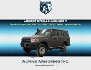 ARMORED TOYOTA LAND CRUISER 76 - Alpine Armoring Inc.