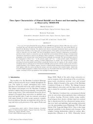 Time–Space Characteristics of Diurnal Rainfall over Borneo and ...