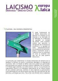 Laicismo. Democracia y derechos cívicos - Europa Laica