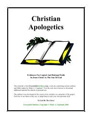 Christian Apologetics - Executable Outlines