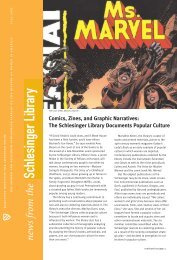 The Schlesinger Library Documents Popular Culture - Radcliffe ...