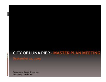 What is a Master Plan? - City of Luna Pier