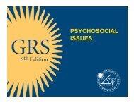 Psychosocial Issues PDF Presentation - CornellCARES.com