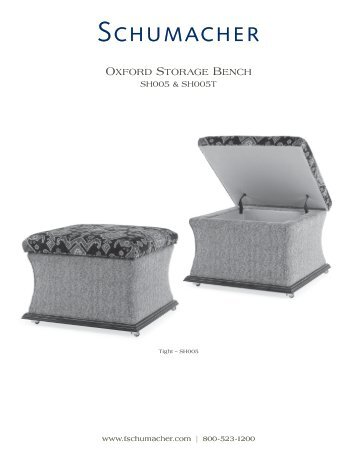 oxFord SToraGe bencH – SH005 & SH005T - Schumacher