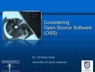 Considering Open Source Software (OSS)