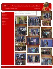 The Lion The Newsletter of the American Community in Ethiopia