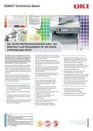 ES8451 Technische Daten - OKI Graphic Arts