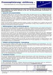 Prozessoptimierung/-einführung … - MicroChemicals GmbH