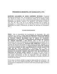 PRESIDENCIA MUNICIPAL DE GUANAJUATO, GTO.