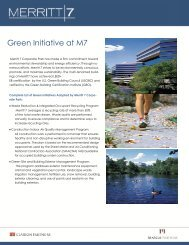 Merritt 7 Green Initiatives