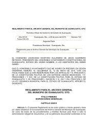 Reglamento para el Archivo General del Municipio de Guanajuato ...